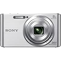 Sony DSCW830 Digital Compact Camera - Silver (20.1MP, 8x Optical Zoom) 2.7 inch LCD