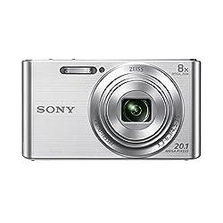 Sony DSC-W830 Digitalkamera (20,1 Megapixel, 8x optischer Zoom, 6,8 cm (2,7 Zoll) LC-Display, 25mm Carl Zeiss Vario Tessar Weitwinkelobjektiv, SteadyShot) silber