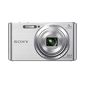 Sony DSC-W830S Appareil Photo Numérique Compact, 20.1Mpix, Zoom Optique 8x, Stabilisation Optique - Argent