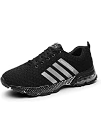 258b2e0ff SOLLOMENSI Men Women Sports Shoes Running Sneakers Trainers Air Cushion  Fitness Athletic Walking Gym
