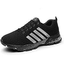 1cf4f712f4ca7 Sollomensi Zapatillas Hombres Mujer Deporte Running Zapatos para Correr  Gimnasio Sneakers Deportivas Padel Transpirables Casual
