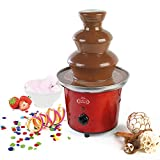 Giles and Posner EK1525 Electric Chocolate Fountain for Fun Cooking, Red