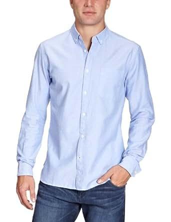 JACK & JONES PREMIUM Herren Hemd mit Manschetten 12058233 Oxford Shirt, Gr. 48 (S), Blau (CASHMERE BLUE)