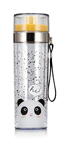 Oh K!. Panda Voyage Sports Bouteille d'eau, Transparent