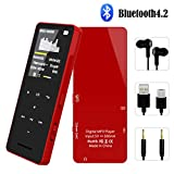 FenQan MP3 Player, Bluetooth 4.2 Music Player, 8GB Memory Support 128G TF Card