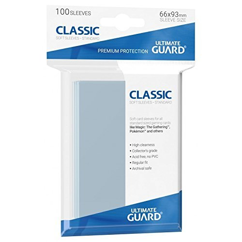 Ultimate Guard UGD010001 - Classic Soft Hüllen, Standardgröße, 100 Stück, transparent