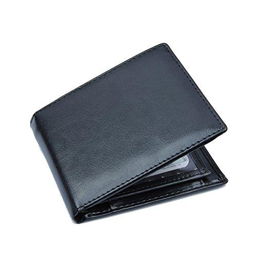 FOANA Tasche per portamonete porta carte di credito pelle da uomo daffari Bifold multifunzione cristallo Sacchetto della moneta