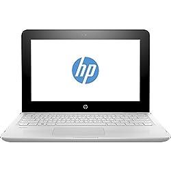 "HP Stream x360 11-aa001ns - Ordenador portátil de 11.6"" (Intel Celeron N3060, 2 GB de RAM, 32 GB eMMC, HD Intel 400, Windows 10 Home 64) blanco nieve - teclado QWERTY Español"