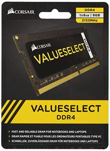 Sodimm-corsair (Corsair CMSO8GX4M1A2133C15 Value Select 8GB (1x8GB) DDR4 2133Mhz CL15  Schwarz)