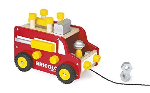 Janod-J06490-Camion-Etabli-Redmaster-Bois