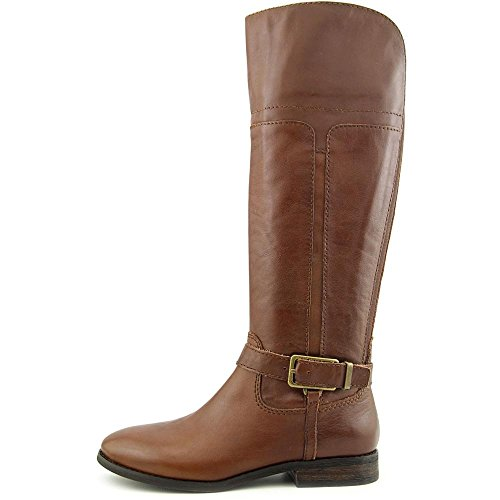 Marc Fisher Aysha Rund Leder Mode-Knie hoch Stiefel Medium Brown