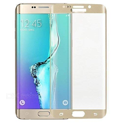 Tingtong Samsung Galaxy S6 Edge+ Plus Full Coverage Tempered Glass, Full Edge-to-Edge Screen Protector (Gold)