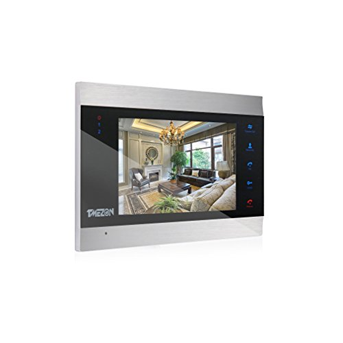 TMEZON 7 Zoll Farbe LCD Touch Button Video Türsprechanlage Türsprechanlage Intercom Entry System,Only Work with MZ-IP-V103W,MZ-VDP-NE120
