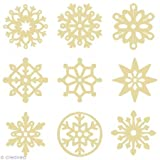 Artemio - Mini sagome in legno a forma di fiocchi di neve, misura 2,5 cm, colore: Beige