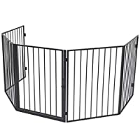 SOULONG Safety Playpen Hearth Gate, Pet Fireplace Fence Fireplace Screen Guard Barrier, for Pet Dog Cat Fire Gate 123 x 123 x 76 cm