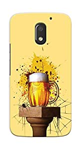 Kaira High Quality Printed Designer Back Case Cover For Motorola Moto E3 Power(Vintagebeer)