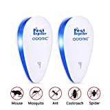 ADORIC Ultrasonic Pest Repeller, Plug in Insect Repeller, 2 Pack Ultrasonic Pest Control