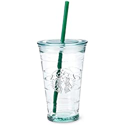 Starbucks 2014 Recycled Glass Cold Grande to Go Cup Tumbler Straw