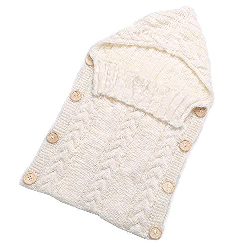 Kostüm Kleinkind Warmes Wetter - CCMUP Neugeborenen Kleinkind Decke Handmade Infant Babys Schlafsack Stricken Kostüm Häkeln Baby Gestrickte Schlafsäcke Schlafsäcke Taste-Weiß