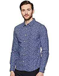 United Colors of Benetton Men's Printed Slim Fit Casual Shirt(Colors & Print May Vary)
