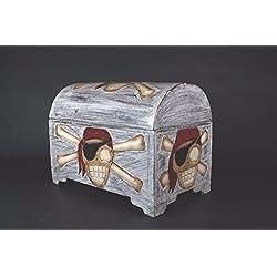 Baúl pirata para almacenaje de madera, 50cm.