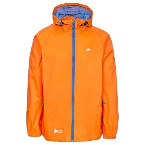 Trespass Damen Kompakt Zusammenrollbare Wasserdichte Regenjacke Qikpac Jacket, Sunrise, XXL, UAJKRAI10001_SNRXXL Orange Regenjacke