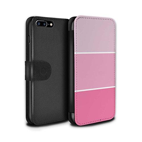 Stuff4 Coque/Etui/Housse Cuir PU Case/Cover pour Apple iPhone 8 Plus / Bleu Clair Design / Tons de Couleur Pastel Collection Rose