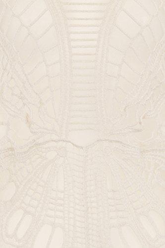 Gorgeous Damen Schmetterling Swirl Baumwolle gehäkelt Top, creme Cremefarben