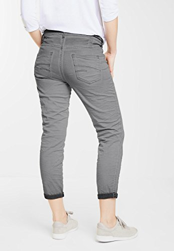 CECIL Damen 7/8-Crinkle Hose New York graphit light grey (grau)