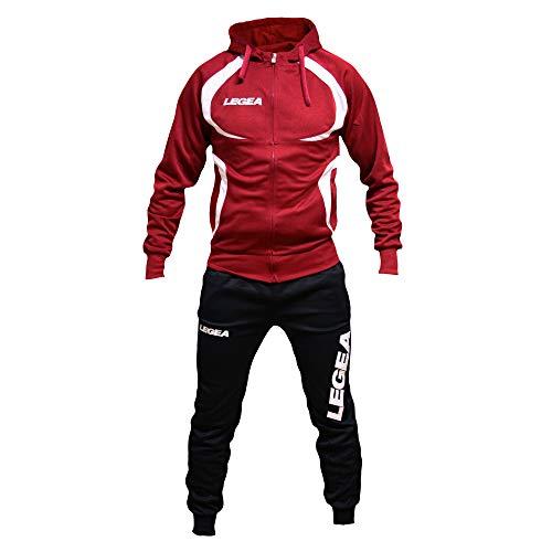 Perseo sport tuta legea tunisia t110 uomo allenamento fitness calcio tempo libero vari colori e tg (l, granata/nero)