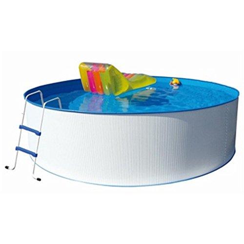 Stahlwandpool Splasher Pool Ø 350 x 90 cm Stahlwandbecken Rund, Schwimmbecken, Stahlrohrbecken