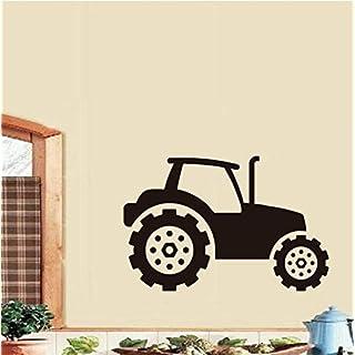 taoyuemaoyi Kinder Traktor Wandaufkleber Vinyl Selbstklebende Abnehmbare Wandtattoos Für Kinderzimmer Auto Wandkunst Wandgemälde Home Decor