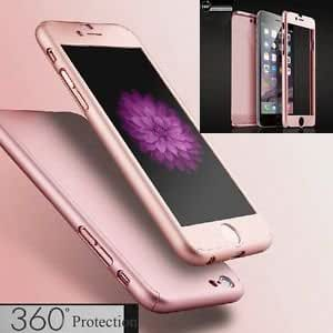 Vegus Cover's For Apple IPhone 5 5s Back Cover & Front Cover 360 Total Securty In Rose Gold