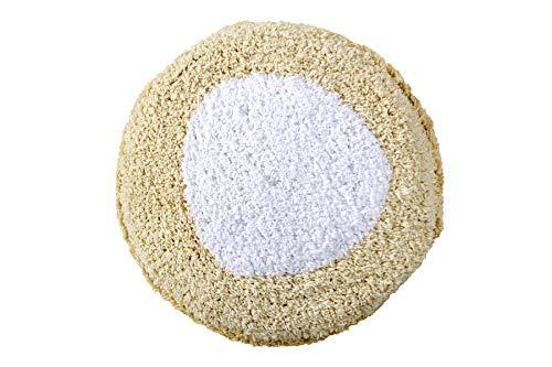 Lorena Canals Puff Marshmallow Round Vanilla, Weiß -100% natürliche Baumwolle/füllung: 100% Polyester - 27x27 cm
