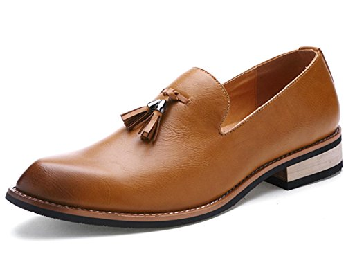 CSDM Casual Business Chaussures Chaussures en cuir British Fashion Nightclub Brown