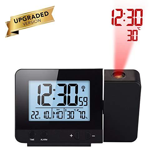 AOZBZ Réveil de Projection Horloge de projecteur à écran LED avec rétroéclairage Réveillez-Vous à l'aide de Piles