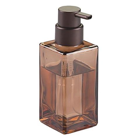 InterDesign 70563EU Casilla Moderner Schaumseifenspender aus Glas für Küche, Badezimmer, sand/bronze, 7.4676 x 6.8326 x 18.8214 cm