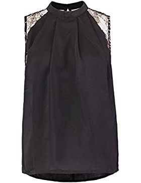 VERO MODA VMDAWN Damen Bluse Top - black/gold L