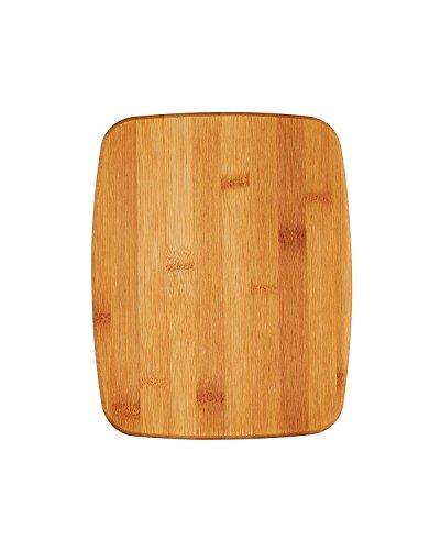 Kitchen Craft 20 x 25 x 1 cm rutschfest, 2-in - 1 Bambus Schneidebrett/Topfuntersetzer, Kork, braun (Holz Schneidbrett 18 X 12)
