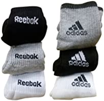 Combo Offer Of 6 Pairs Reebok And Adidas Logo Sports Ankle Length Socks
