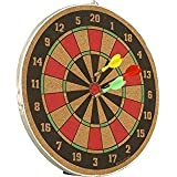 Tavakkal® 16 Inch Double Faced Flock Printing Thickening Family Game Dart Board With Free 3 Needle (16 Inch)
