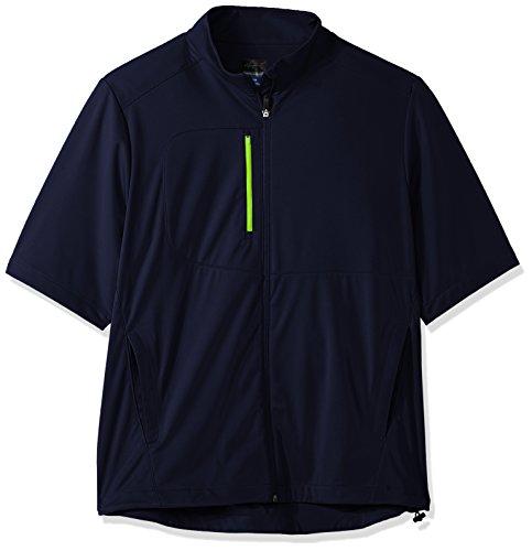 Greg Norman Full Zip Short Sleeve Weatherknit, Herren, Full Zip Short Sleeve Weatherknit, Navy, Small (Pga-kleidung)