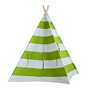 CANALOHA CTE005 - Tende Giocattolo Interno/Esterno - Teepee Indian Wigwam In Cotone Tenda Da Gioco Con Finesta Per Bambini