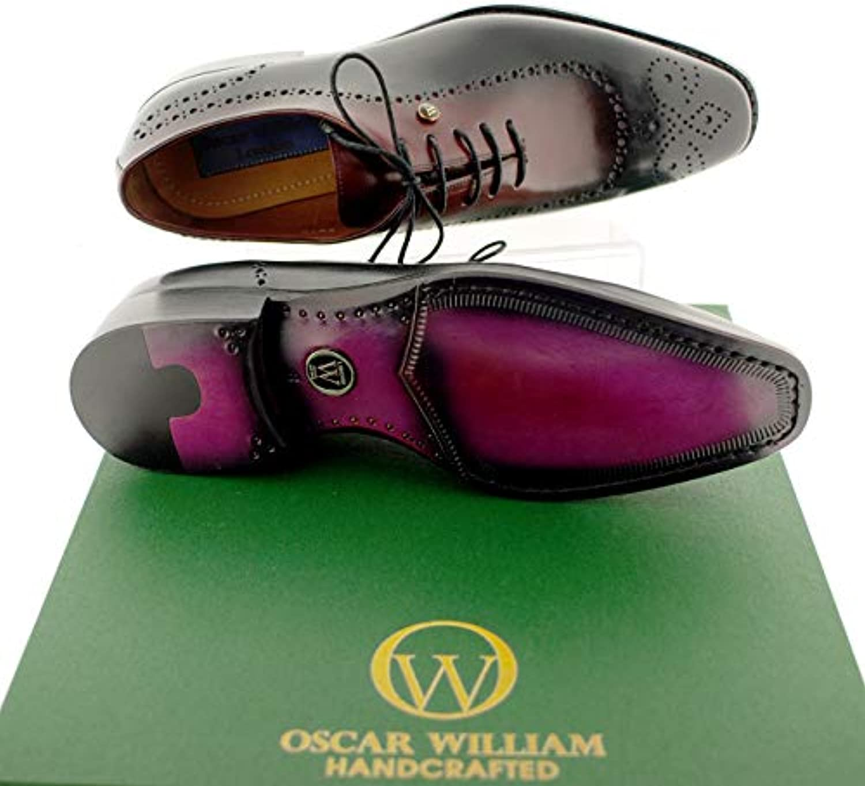 Oscar William scarpemaker, Scarpe Stringate Uomo, Uomo, Uomo, (nero Bordo), 40   Nuova voce  6d20cf