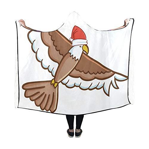 JOCHUAN Hooded Blanket Niedliche lustige Fliegende braune Adler Decke 60 x 50 Zoll Comfotable Hooded Throw Wrap (Niedliche Kostüm Für Teens)