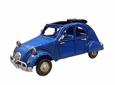 Petite 2CV miniatures en métal, L 16 cm, Modèle Bleu Marine