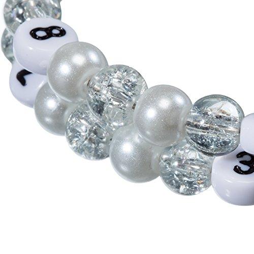 Stillarmband White - Praktisch für stillende Mütter sowie ein ideales Geschenk zur Geburt! (Cracked-/Glaswachsperlen) - 2