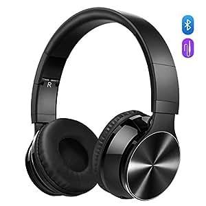 Bluetooth Cuffie Stereo OMorc Waver Wireless Headphones Pieghevole Over-Ear Bluetooth 4.0 Auricolari Microfono Ricaricabile Funziona 8 Ore, per iPhone, Samsung Galaxy, Huawei e Altri Smartphone, Nero