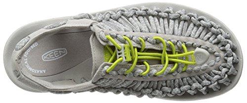 Keen Uneek 8mm Rock Women's Sandal De Marche - AW16 Blanc - VAPOR/CHARTREUSE