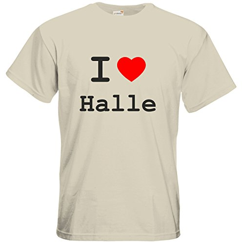 getshirts - Best of - T-Shirt - love - I love Halle - natural XXL